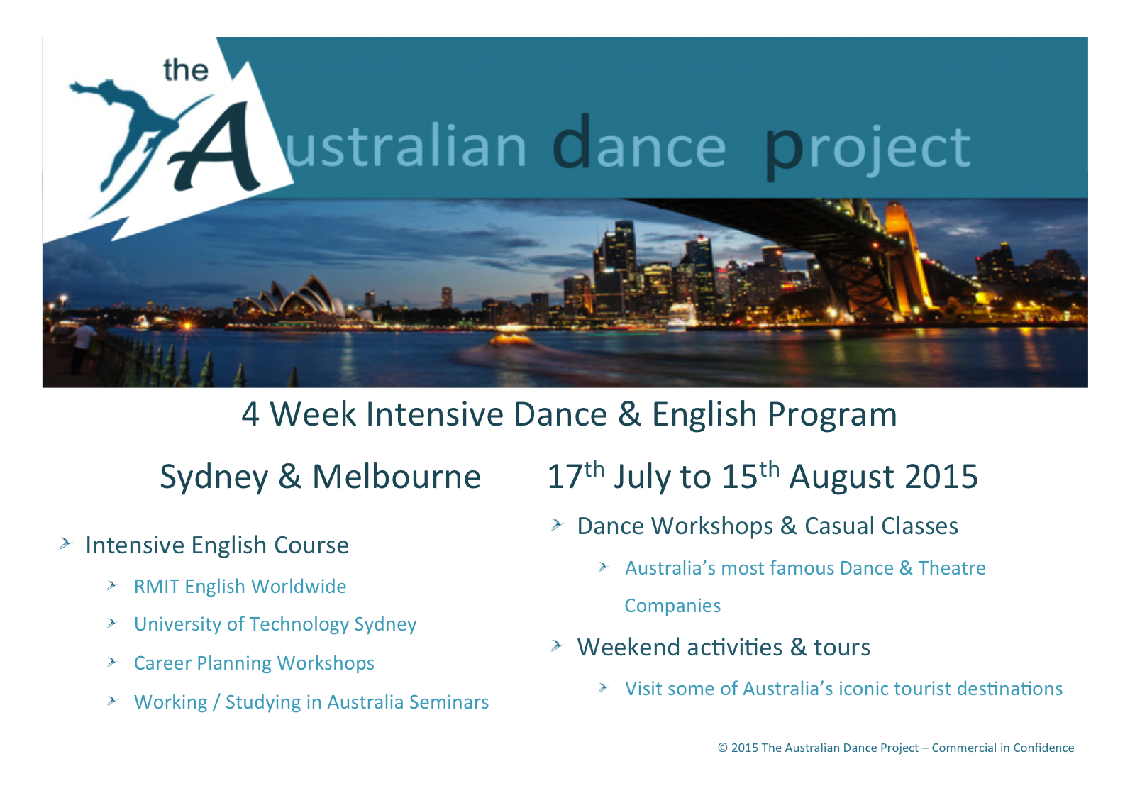 ADP Program Syd-Melb Front Page